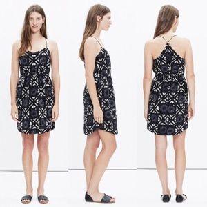 Madewell Starview Batik Grid Silk Cami Dress